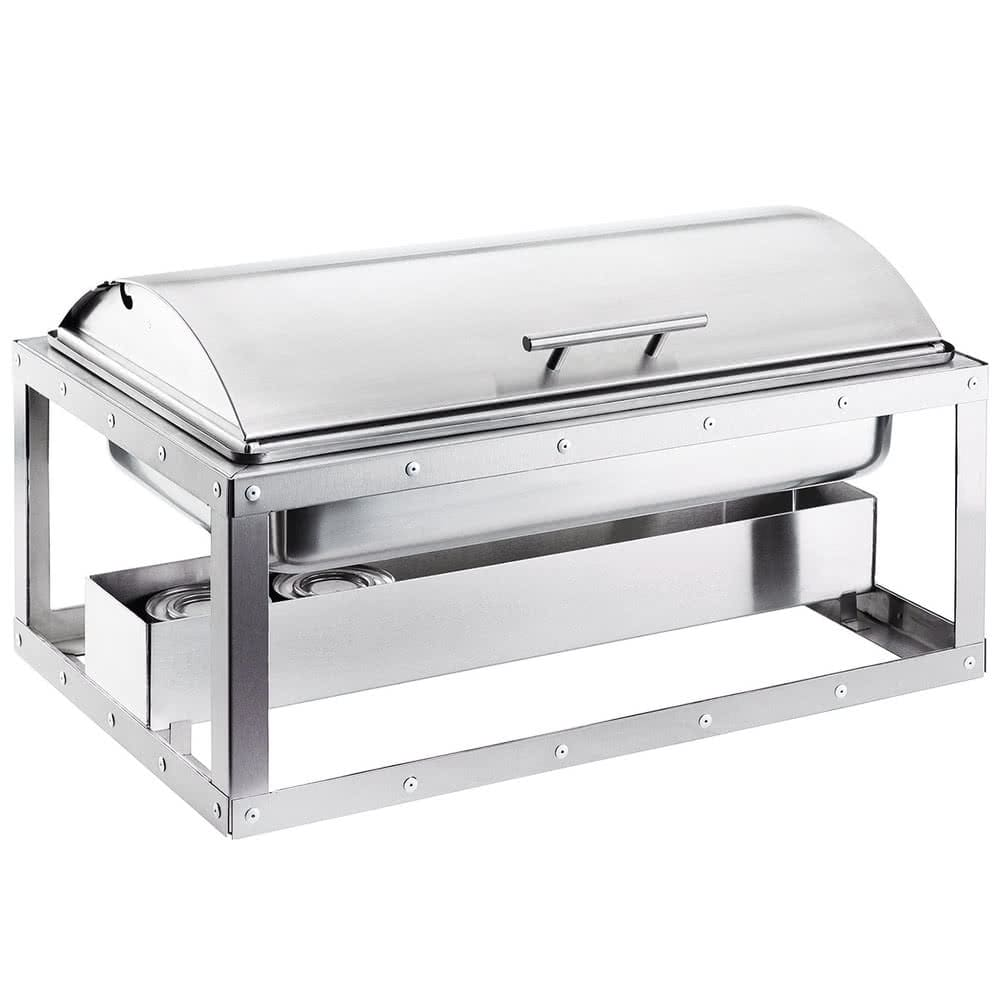 Cal-Mil 3396-55 Full Size Chafer w/ Roll-Top Lid & Chafing Fuel Heat