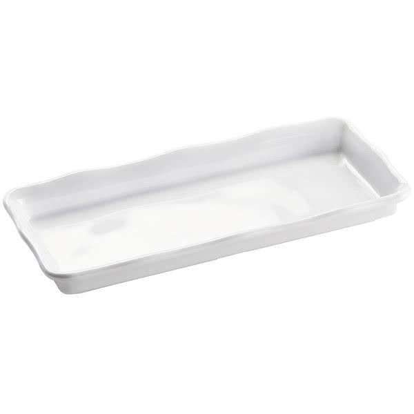"Cal-Mil 3414-15 Rectangular Serving Tray - 11.5"" x 6.5"", Melamine, White"