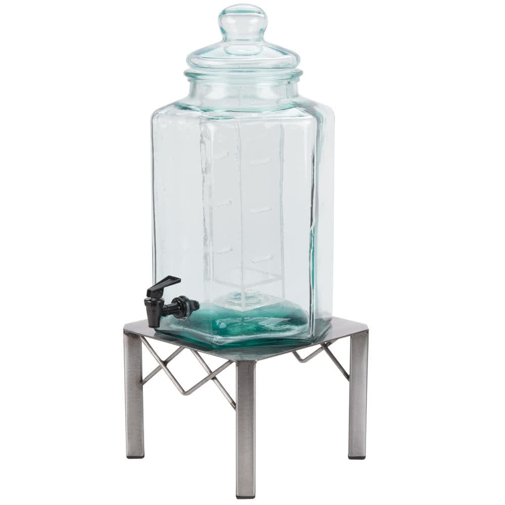 Cal-Mil 3421-2INF 2-gal Beverage Dispenser w/ Infusion Chamber - Glass w/ Metal Base