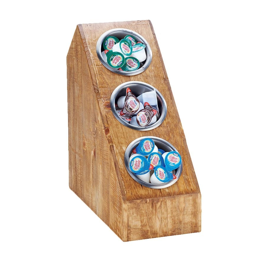 """Cal-Mil 3423-3-99 15"""" 3 Section Cylinder Display, Reclaimed Wood"""