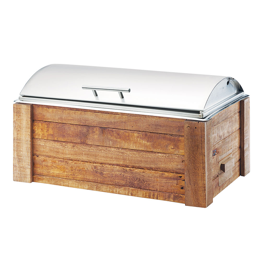 Cal-Mil 3429-99 Full Size Chafer w/ Roll-Top Lid & Chafing Fuel Heat
