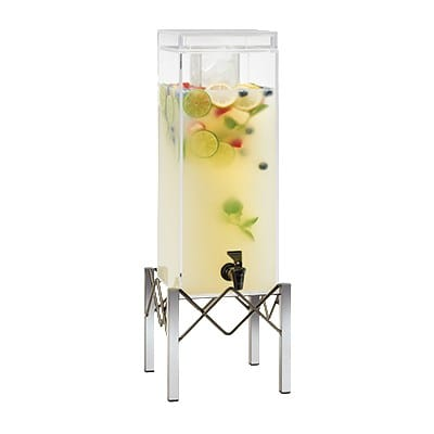 Cal-Mil 3436-3INF 3 gal Beverage Dispenser w/ Infusion Chamber - Plastic w/ Stainless Steel Base
