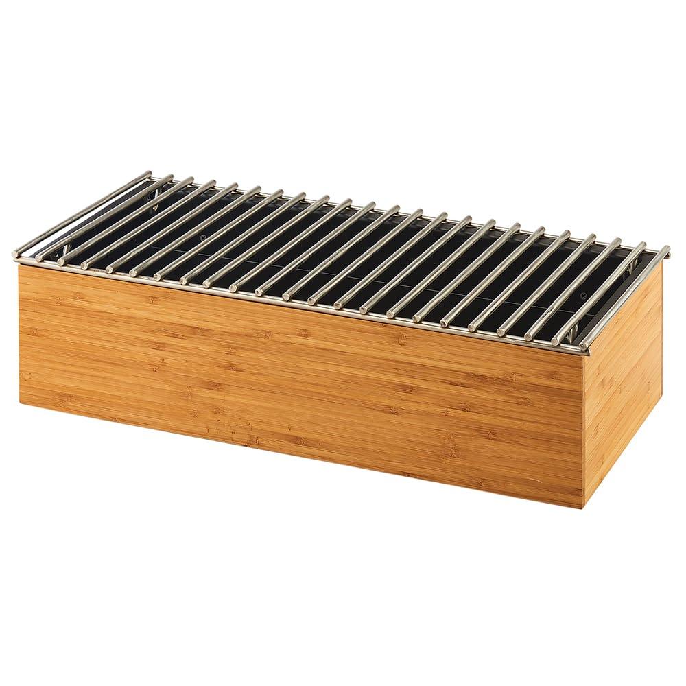 "Cal-Mil 3439-60 Rectangular Chafer Alternative - 19.5"" x 9.75"" x 5.5"", Bamboo"