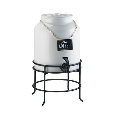 Cal-Mil 3460-1-13 1.5-gal w/ Chalkboard Sign - Porcelain w/ Black Wire Base