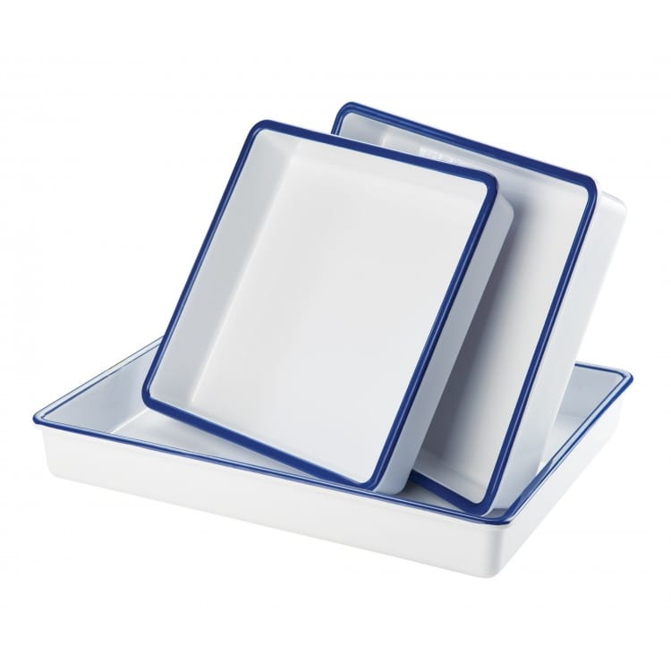 "Cal-Mil 3465-15 Rectangular Serving Tray - 15"" x 12"", Melamine, White"