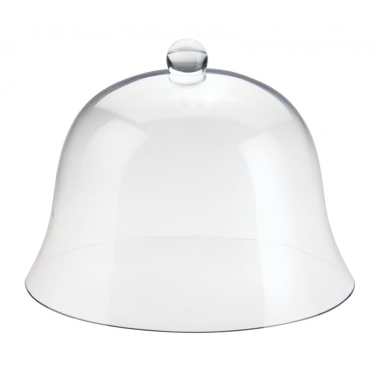 """Cal-Mil 3488 12"""" Round Bell Cake Cover - 8.5""""H, Acrylic, Clear"""