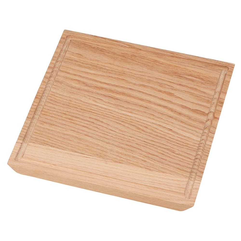 "Cal-Mil 3496-1111-21 11"" Square Serving Board - Wood, Oak"