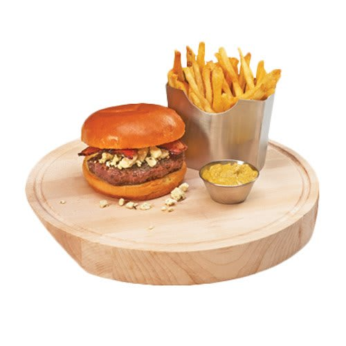 """Cal-Mil 3496-12-71 12"""" Round Serving Board - Wood, Maple"""