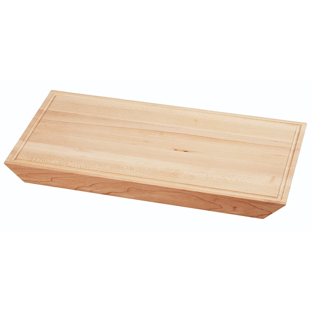 "Cal-Mil 3496-617-71 Rectangular Serving Board - 17"" x 6"", Wood, Maple"