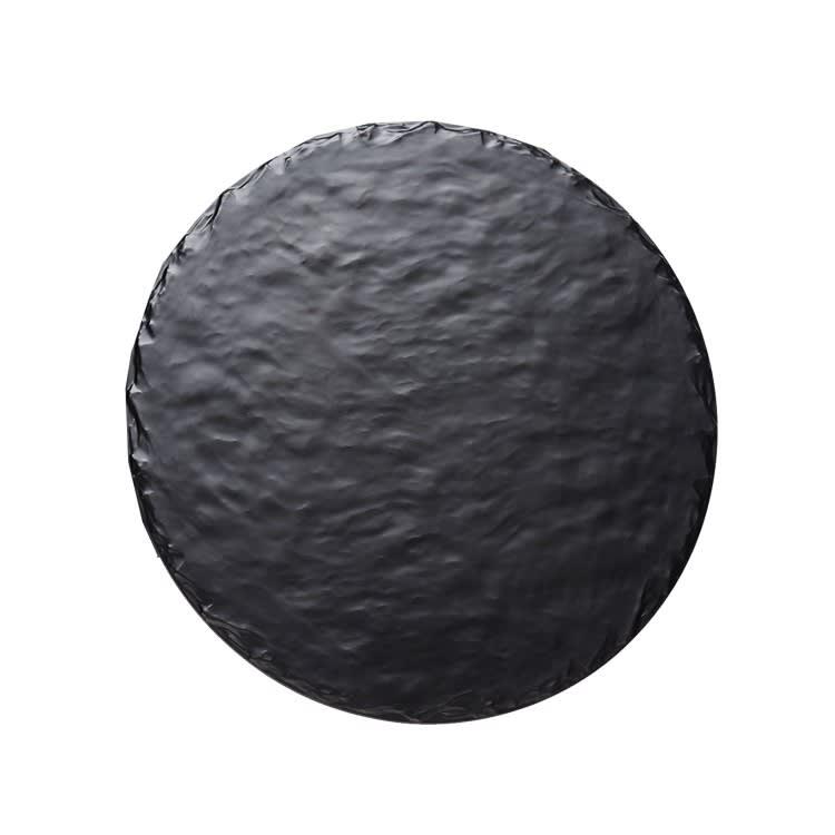 "Cal-Mil 3502-12-65M 12"" Round Display Tray - Melamine, Slate"
