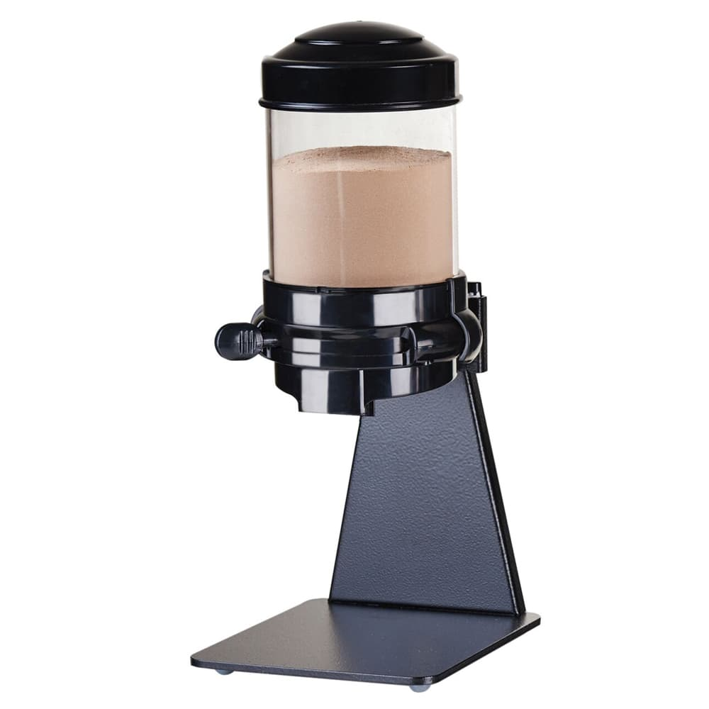 Cal-Mil 1/13/3522 Countertop Powder Dispenser w/ (1) 1.5 liter Container - Metal Stand, Black