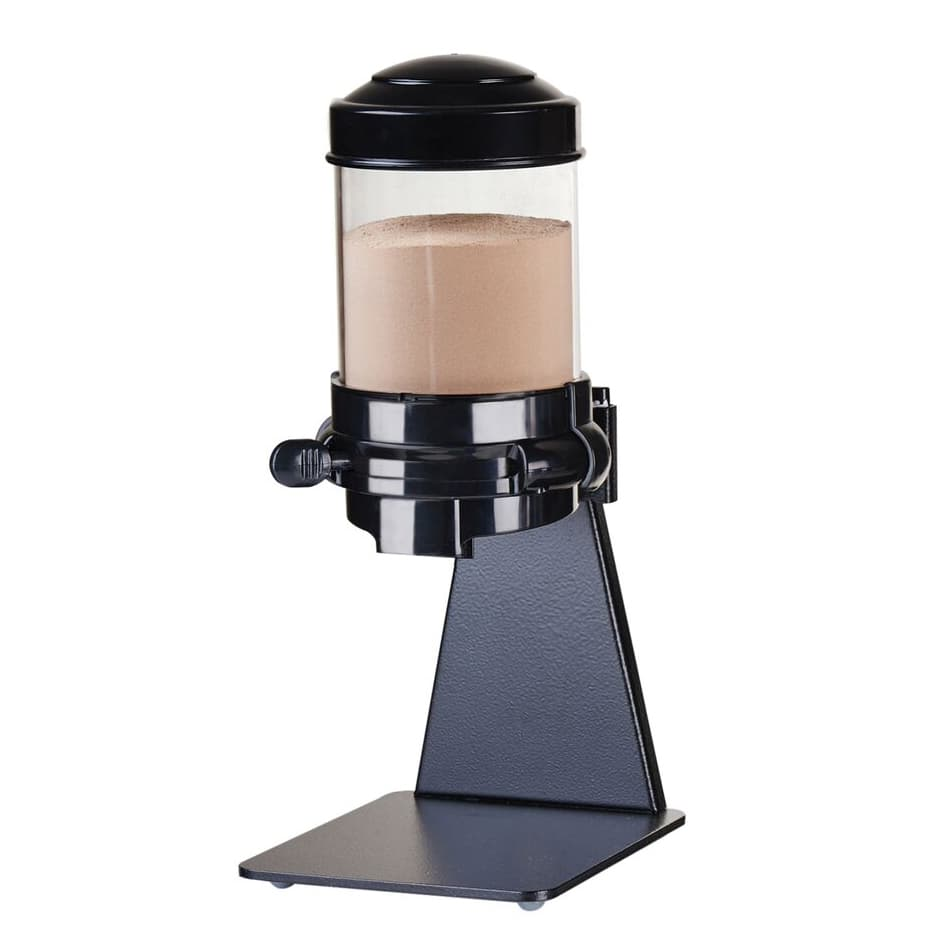 Cal-Mil 1/13/3524 Countertop Topping Dispenser w/ (1) 1.5 liter Container - Metal Stand, Black