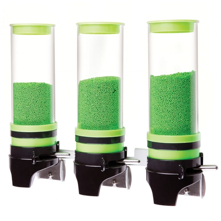 Cal-Mil 3525-3-40 Wall-Mount Topping Dispenser w/ (3) 1 liter Containers - Plastic, Green