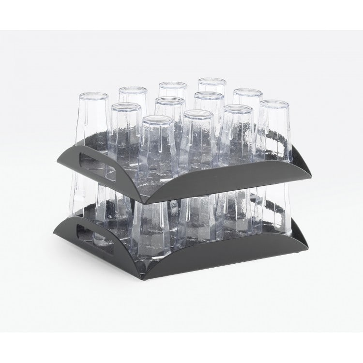 "Cal-Mil 353-13 Rectangular Hotel Amenity Display Tray - 15.25"" x 12.5"", Plastic, Black"