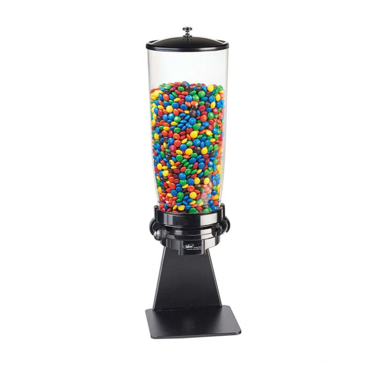 Cal-Mil 1/13/3534 Countertop Topping Dispenser w/ (1) 5 liter Container - Metal Stand, Black