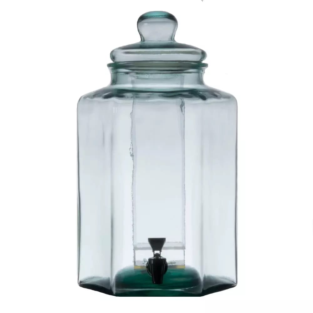Cal-Mil 3553ICE 2 gal Beverage Dispenser w/ Ice Chamber - Glass, Clear