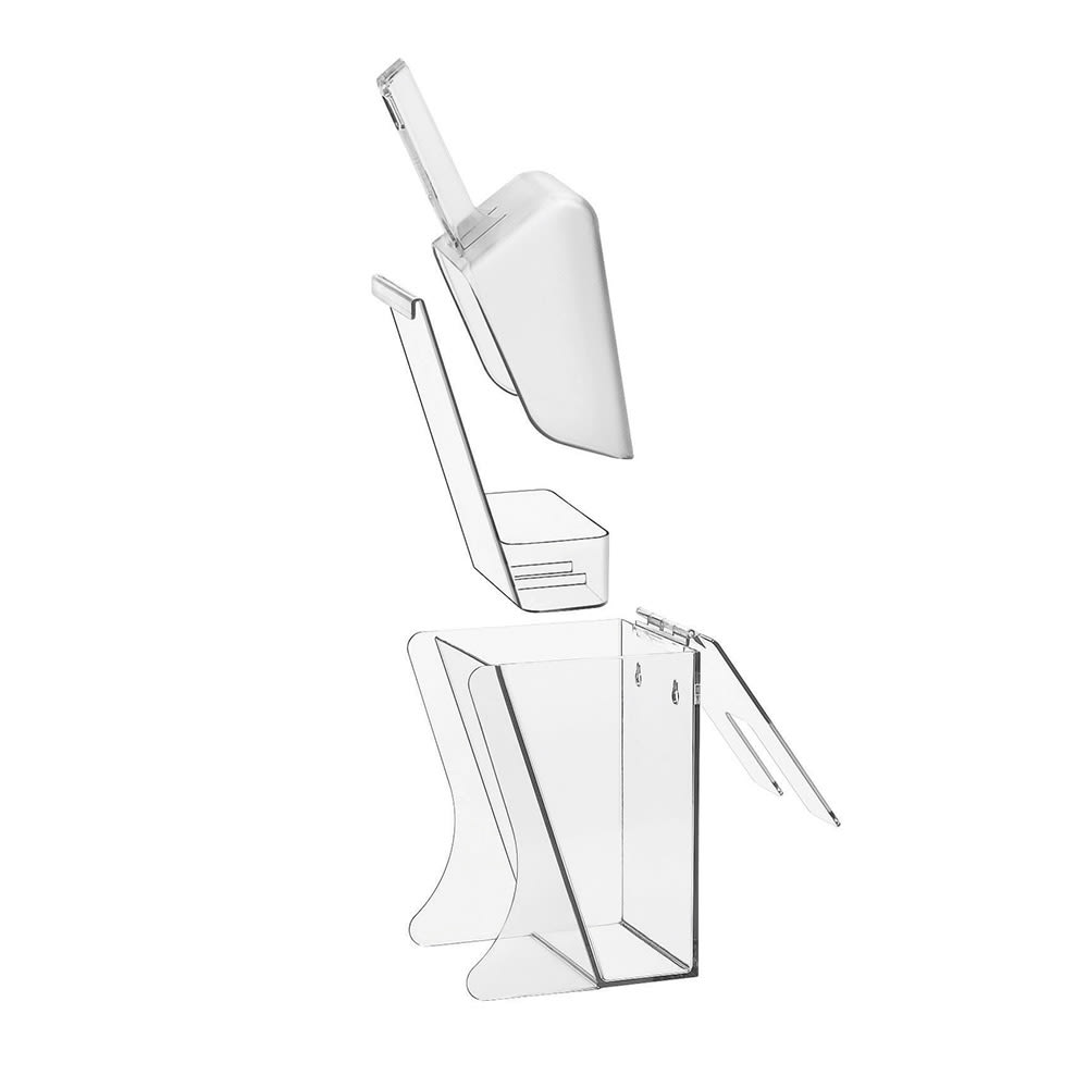 Cal-Mil 356 Wall Mount Scoop Holder w/ 32 oz Scoop & Drip Tray