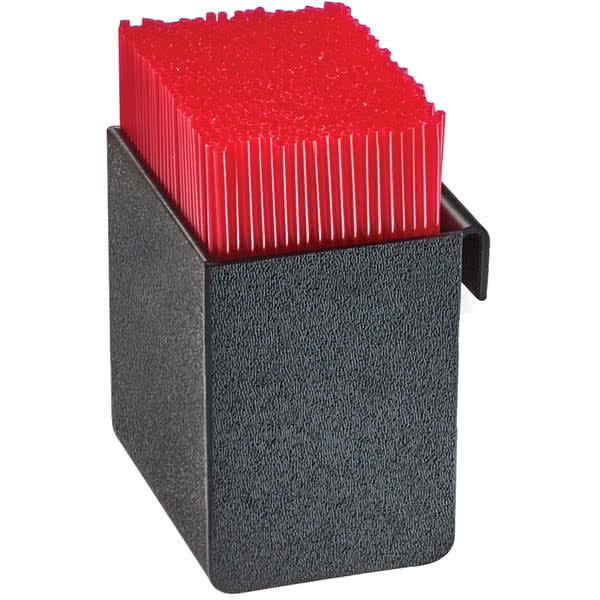 "Cal-Mil 3573-13 3.5"" Square Stir-Stick Holder - Plastic, Clear/White"