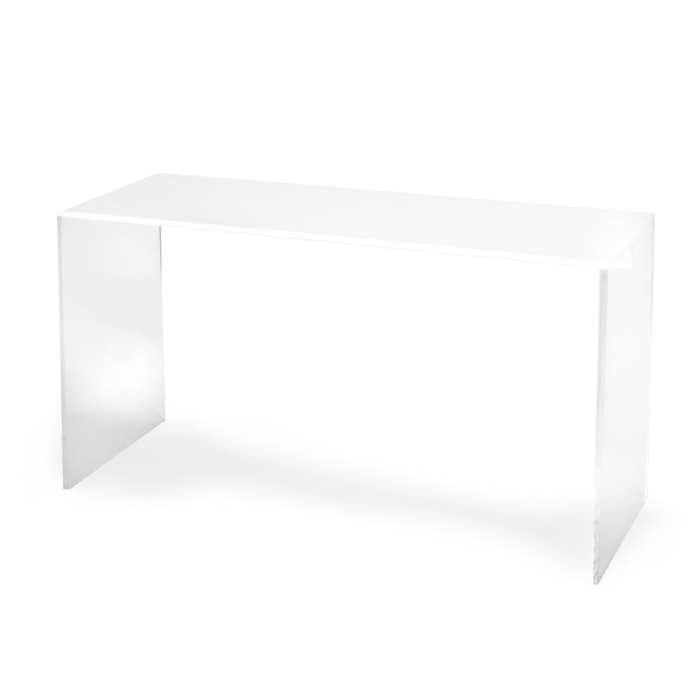 """Cal-Mil 11/15/3586 Rectangular Buffet Riser - 20""""W x 7""""D x 11""""H, Acrylic, Clear & White"""