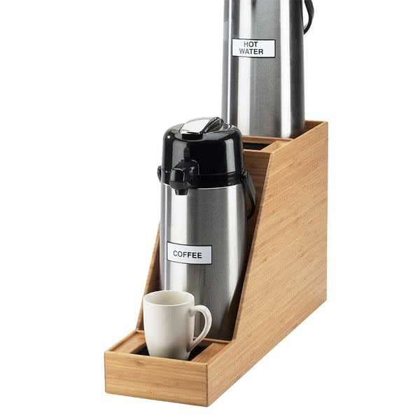 """Cal-Mil 360-2-60 Airpot Stand for 2.5L & 3.0L Airpots - 7.5"""" x 23.5"""" x 15.25"""", Bamboo"""