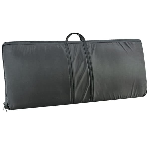 "Cal-Mil 3615-6 Padded Sneezeguard Carrier - 75""W x 19.5""D x 3.5""H, Black Canvas"