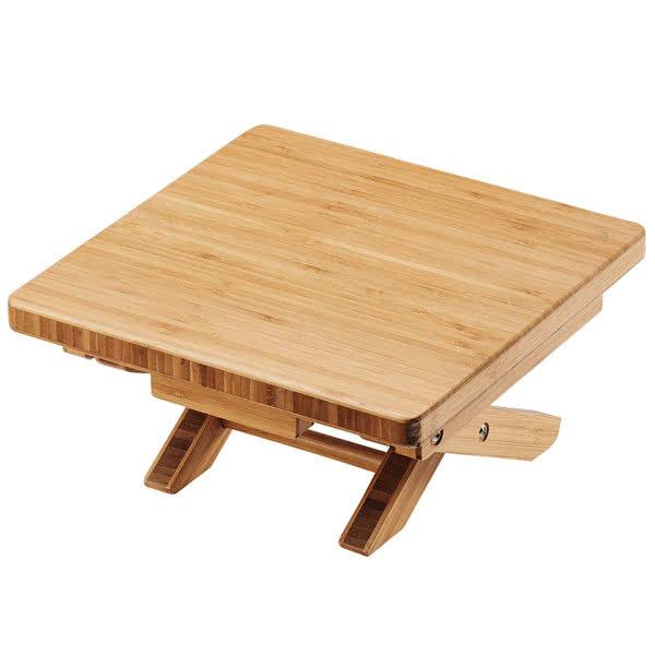 "Cal-Mil 3620-5-60 10"" Square Folding Buffet Riser - 5""H, Bamboo"