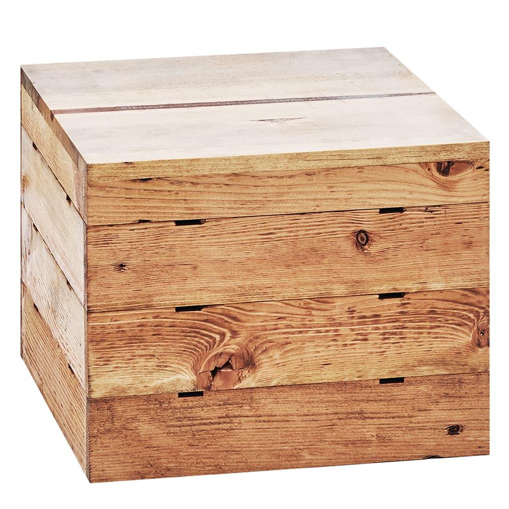 "Cal-Mil 3628-10-99 12"" Square Buffet Riser - 18""H, Reclaimed Wood"