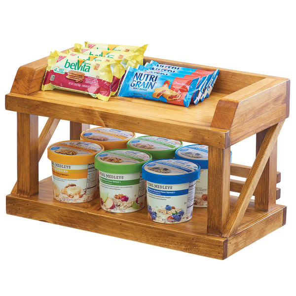"""Cal-Mil 3646-99 3 Tier Display Stand - 16.25""""W x 7.75""""D x 9.5""""H, Reclaimed Wood"""