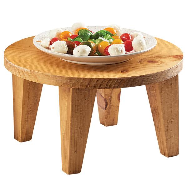 """Cal-Mil 3668-6-99 12"""" Round Buffet Riser - 6.5""""H, Wood"""