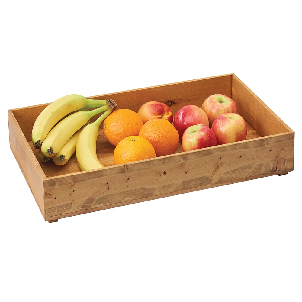 "Cal-Mil 3682-2012-99 Rectangular Stacking Display Bin - 20""W x 10""D x 3.25""H, Reclaimed Wood"