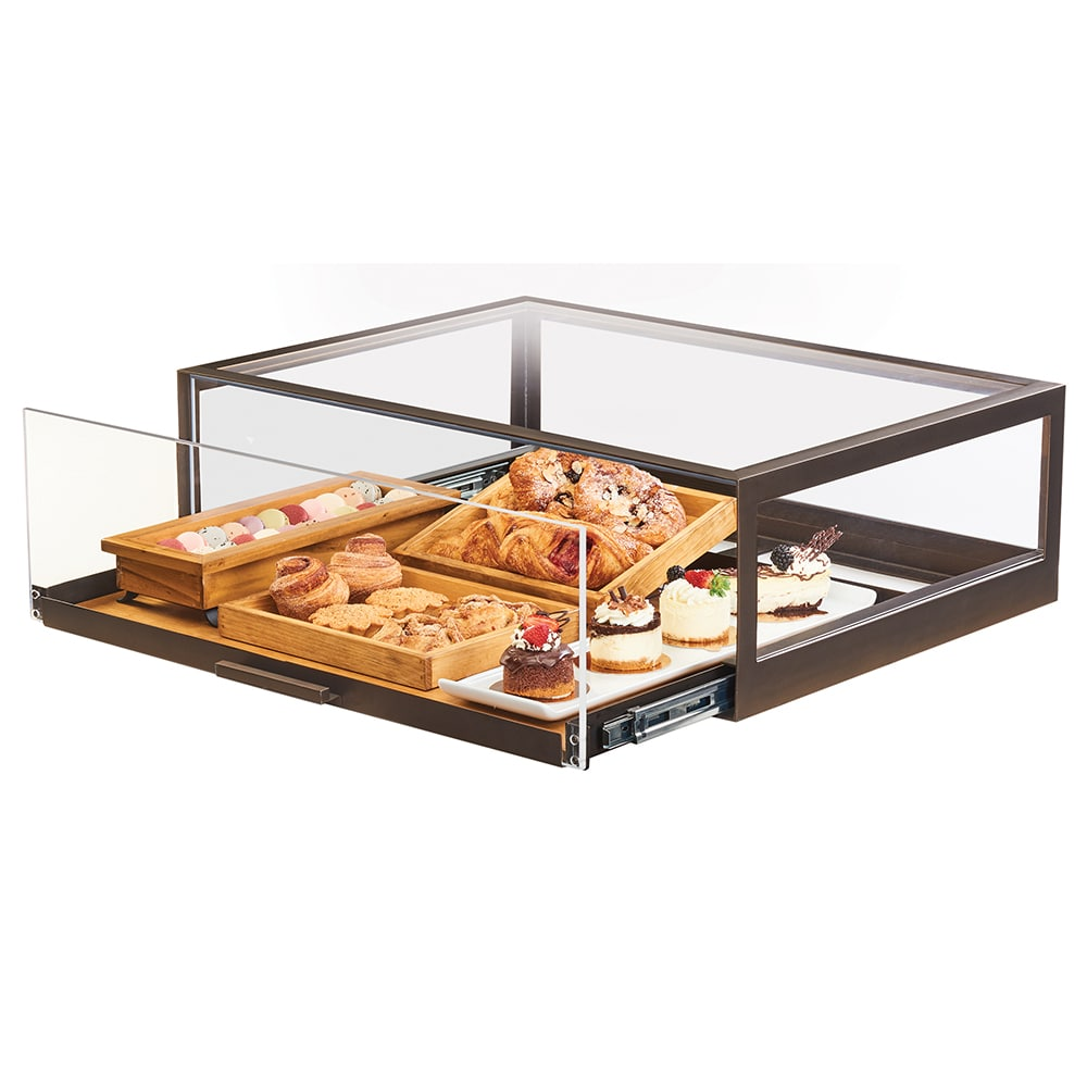 """Cal-Mil 3694-84 Pastry Display Case w/ Pull-Out Drawer - 48""""W x 24""""D x 10""""H, Bronze Frame"""
