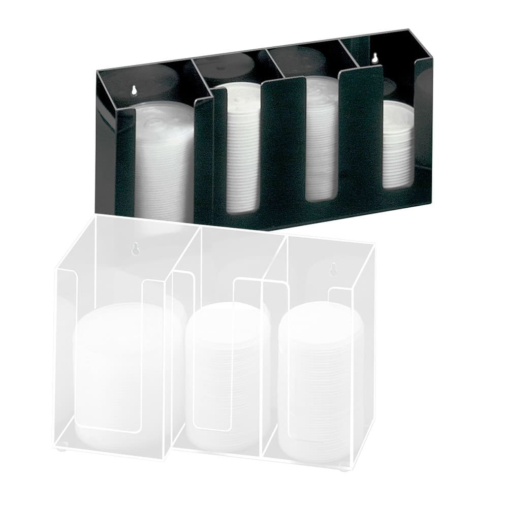 "Cal-Mil 376-13 Lid Organizer w/ (3) 4"" & (1) 5"" Sections, Black"