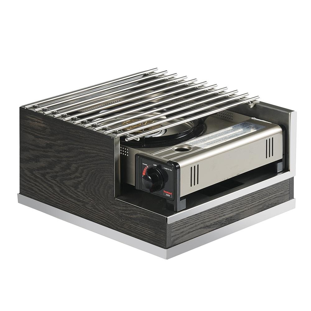 Cal Mil 3816 87 Frame W Steel Grill Top For Butane Stove 12 W X 14 D X 7 5 H Oak Metal