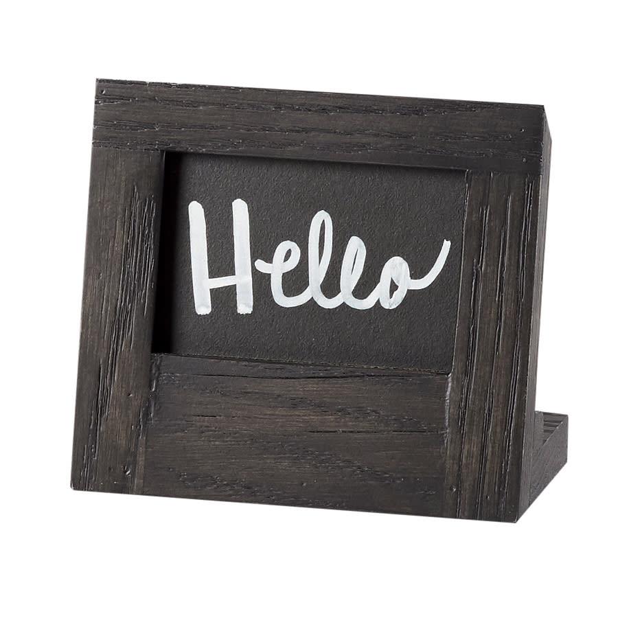 Cal Mil 3818 23 87 Chalkboard Sign 5 W X 4 1 4 H Oak Frame Dark Gray