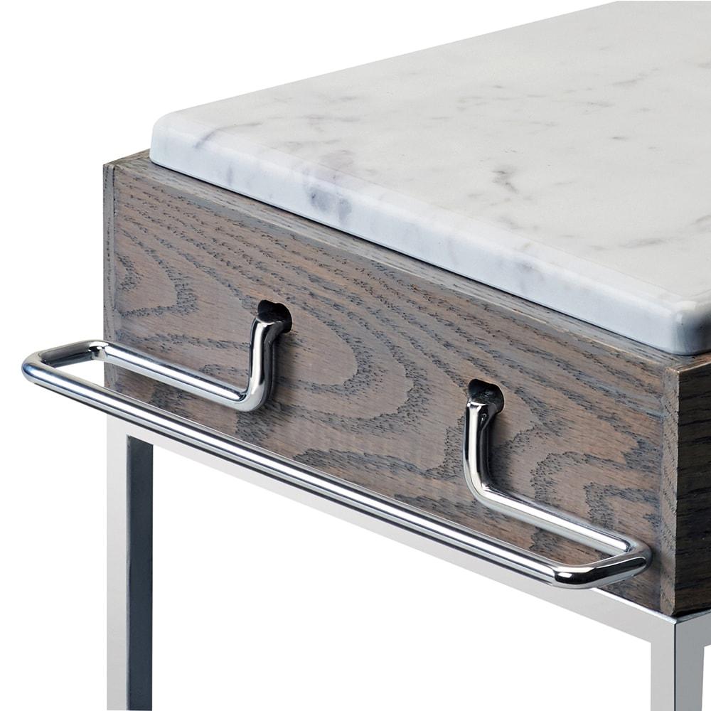 Cal-Mil 3827-49 Bracket for Ashwood Marble Buffet Risers - Metal, Chrome