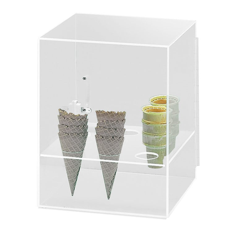"""Cal-Mil 386 9-Hole Cone Cabinet w/ 2"""" Diameter Hole Size, Clear"""