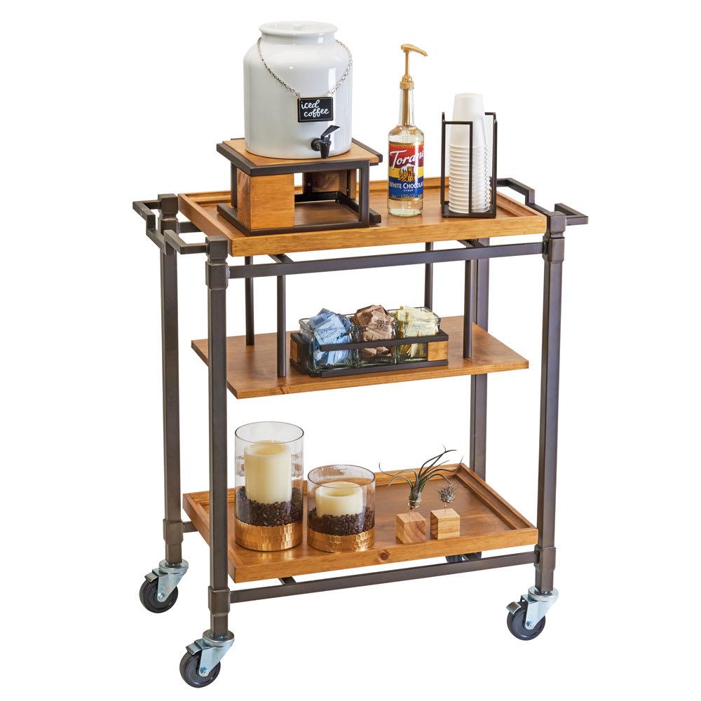 Cal-Mil 3913-84 Mobile Beverage Cart w/ (3) Shelves, Bronze on