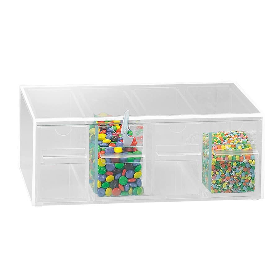 """Cal-Mil 393 Topping Dispenser w/ Notched Drawers, 13x8x5"""", BPA Free, Clear"""