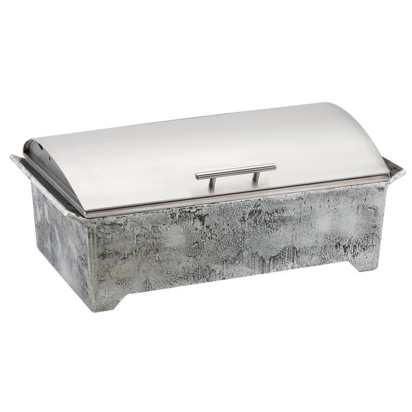 Cal-Mil 4001 Full Size Chafing Dish w/ Hinged Lid & Chafing Fuel Heat