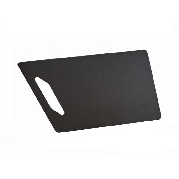 "Cal-Mil 4002-812-13 Rectangular Angled Serving Board w/ Handle - 12"" x 8"", Fiberesin, Black"