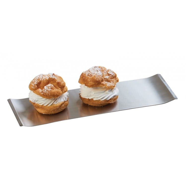"""Cal-Mil 4007-55 Rectangular Serving Tray - 4"""" x 2.75"""", Stainless Steel"""