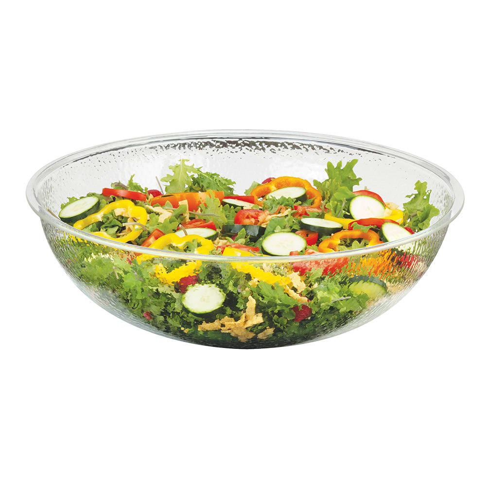"Cal-Mil 401-12-34 12"" Salad Bowl w/ 4-qt Capacity, Pebble Acrylic"