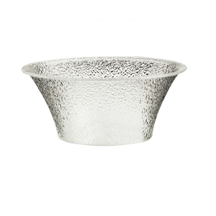 "Cal-Mil 403-15-34 15"" Pebbled Serving Bowl - Acrylic, Clear"