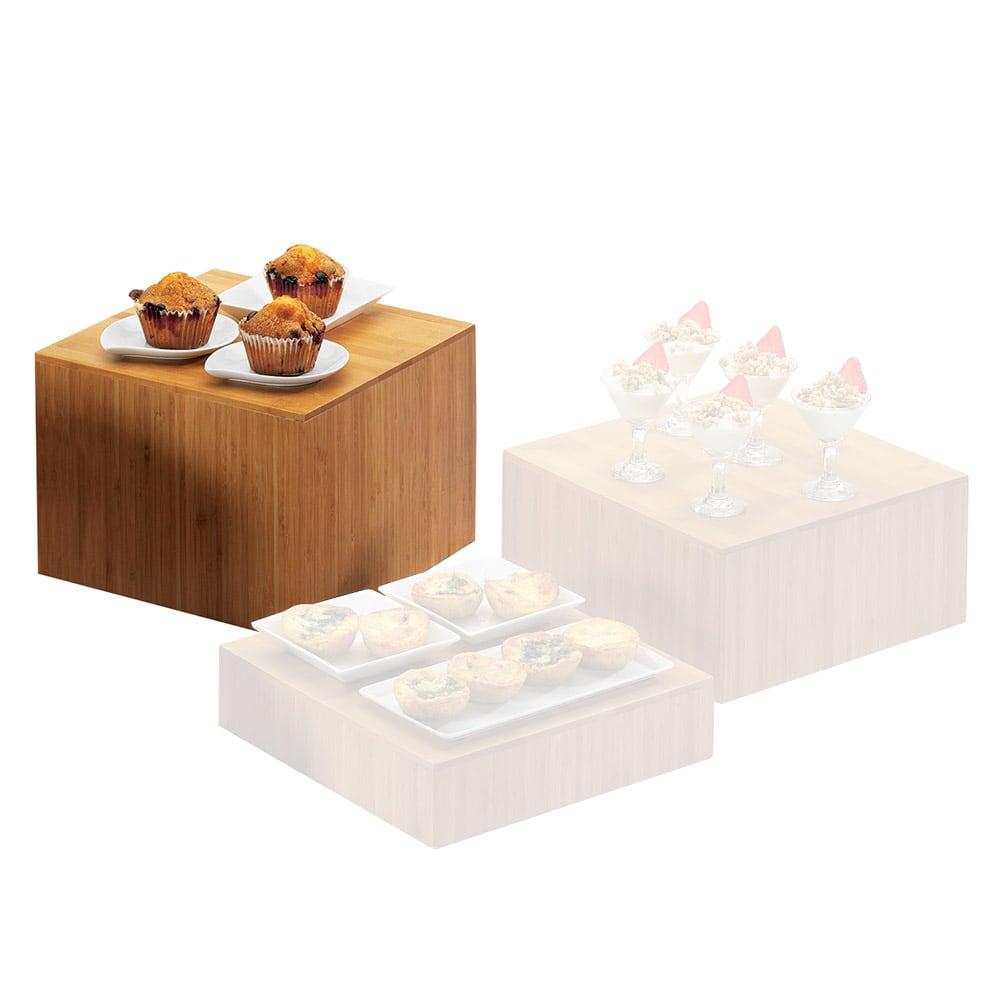 "Cal-Mil 432-9-60 12"" Square Bamboo Cube Riser, 9"" High"
