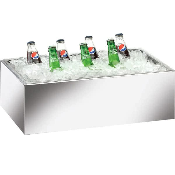 "Cal-Mil 473-12-24 Ice Housing w/ Clear Pan - 20""W x 12""D x 6""H, Acrylic, Mirror"