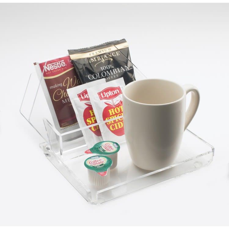 """Cal-Mil 490-12 Coffee Amenity Tray - 9.5"""" x 7.5"""", Acrylic, Clear"""