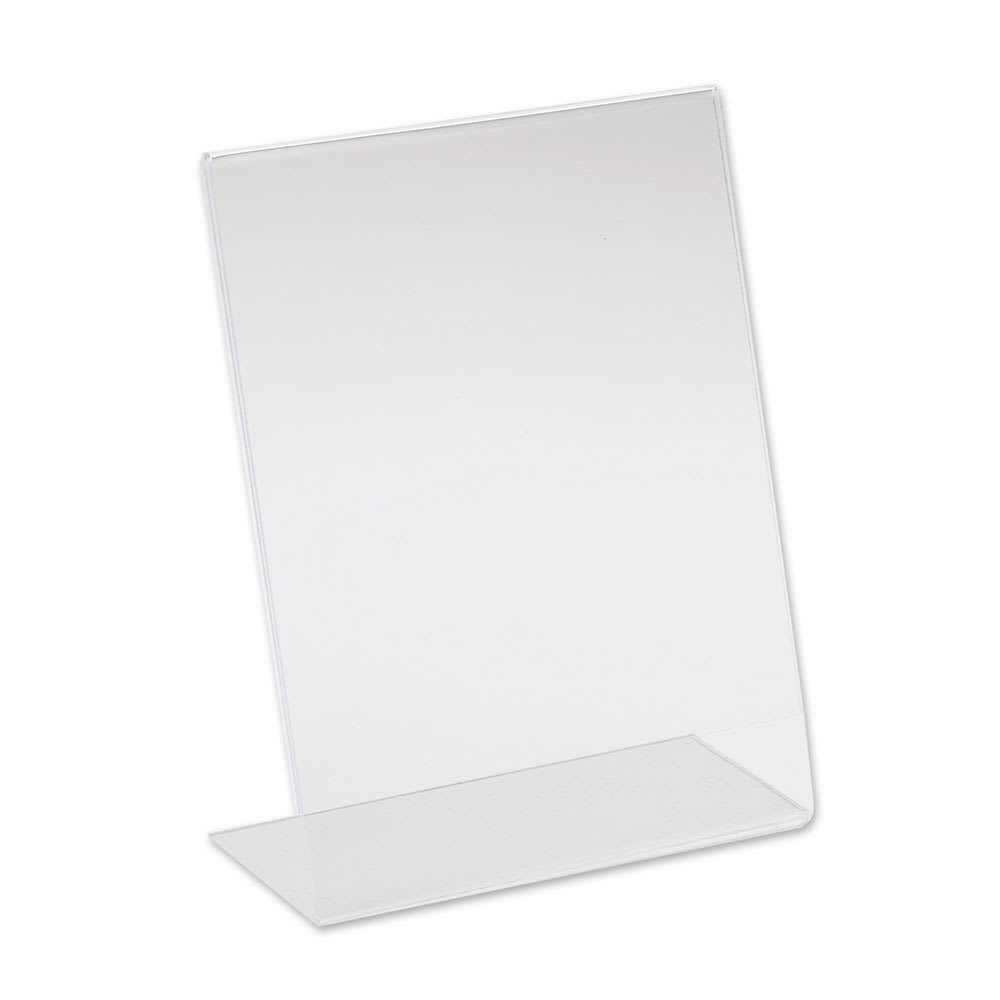 "Cal-Mil 513 Tabletop Menu Card Holder - 8.5"" x 11"", Acrylic"