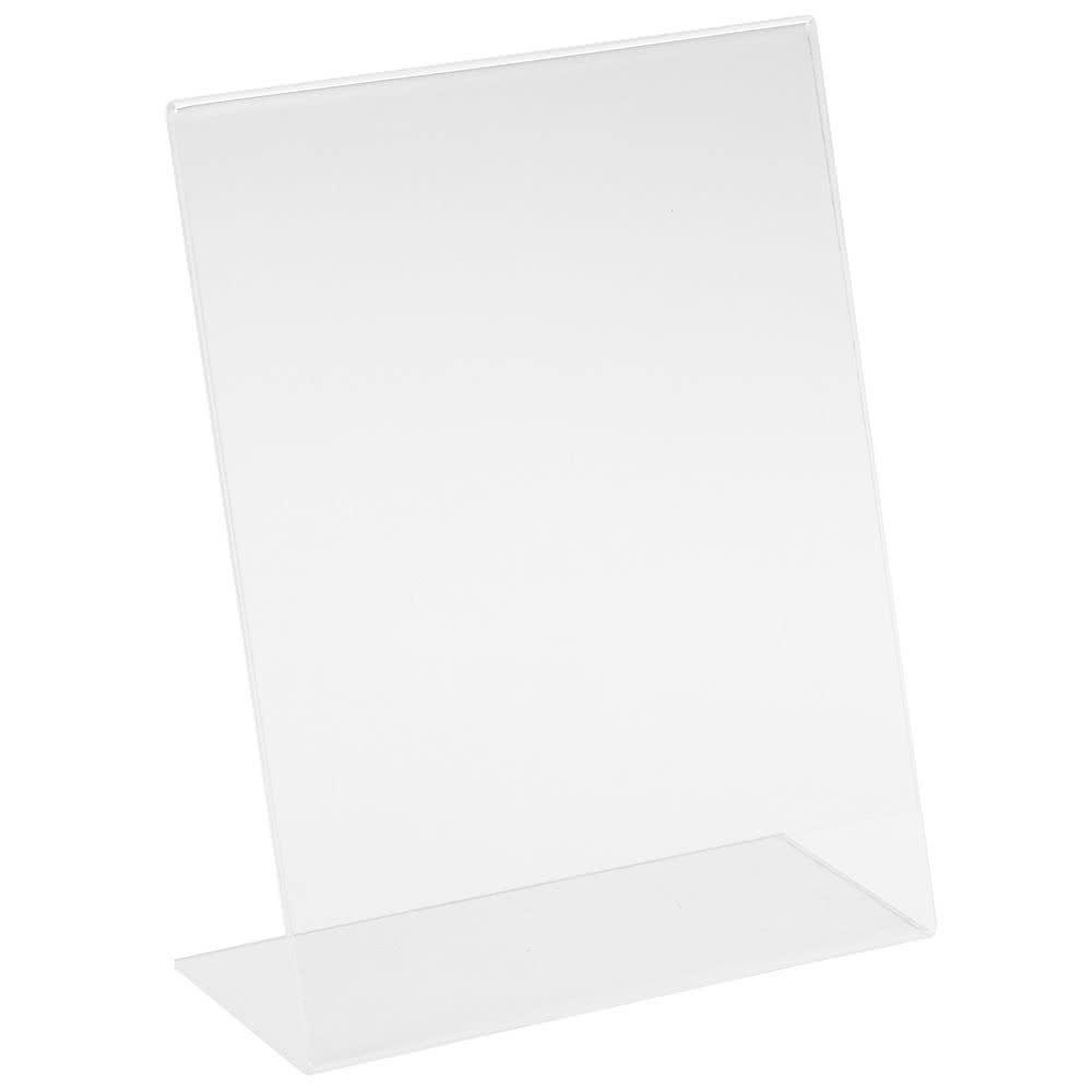 """Cal-Mil 515 Tabletop Menu Card Holder - 5"""" x 7"""", Acrylic, Clear"""