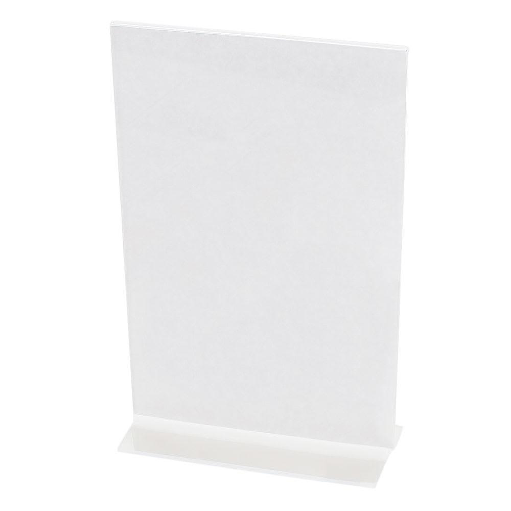 "Cal-Mil 524 Tabletop Menu Card Holder - 5.5"" x 8.5"", Acrylic"