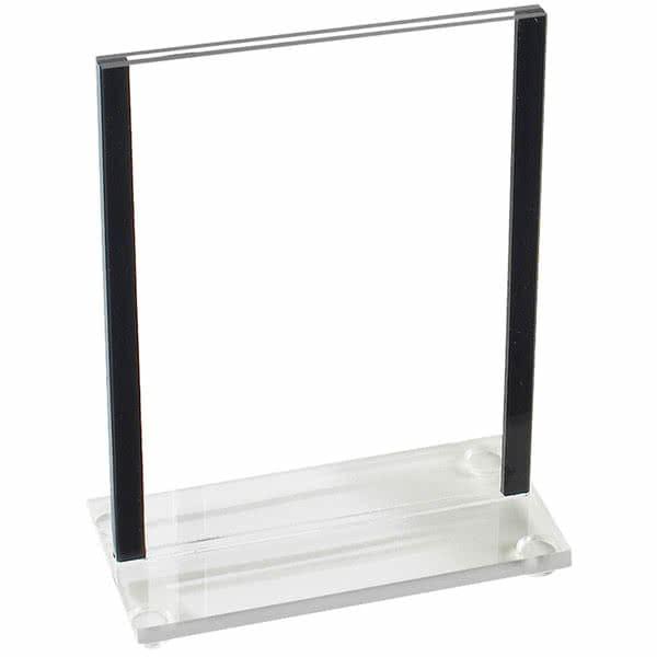 """Cal-Mil 534-13 Tabletop Menu Card Holder - 4"""" x 6"""", Acrylic, Clear"""